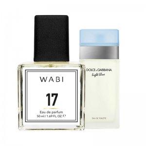 WABI PERFUME No 17 -  TYPE D&G LIGHT BLUE 50ML