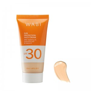 WABI SUN PROTECTION TINTED FACE CREAM DELICATE IVORY SPF 30